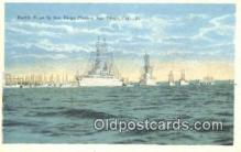 shi003962 - Ship In San Diego, California, CA USA Military Battleship Postcard Post Card Old Vintage Antique