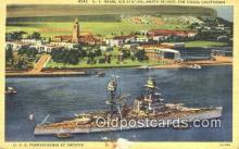 shi003965 - US Naval Air Station, North island, San Diego, California, CA USA Military Battleship Postcard Post Card Old Vintage Antique