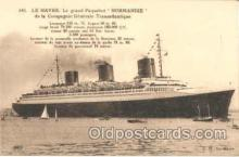 shi004011 - French Line Normandie Ship Ships Postcard Postcards