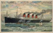 shi004021 - S.S. France, French Line Ship Ships Postcard Postcards