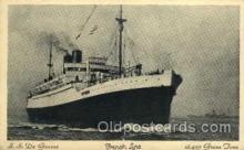 shi004022 - S.S. De Grasse, French Line Ship Ships Postcard Postcards