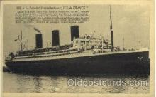 shi004030 - SS Ile de France French Line Ship Ships Postcard Postcards