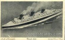 shi004031 - SS Normandie French Line Ship Ships Postcard Postcards