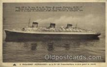 shi004033 - SS Normandie French Line Ship Ships Postcard Postcards
