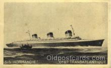 shi004044 - SS Normandie French Line Ship Ships Postcard Postcards