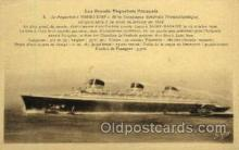 shi004061 - SS Normandie French Line Ship Ships Postcard Postcards