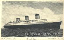 shi004083 - S.S. Normandie French Line, Lines, Ship Ships Postcard Postcards