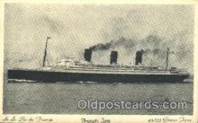shi004087 - S.S. Jle de France French Line, Lines, Ship Ships Postcard Postcards