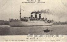 shi004093 - S.S. Patria Mediterranean New York, USA French Line, Lines, Ship Ships Postcard Postcards