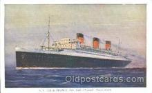 shi004097 - S.S. Ile de France French Line, Lines, Ship Ships Postcard Postcards