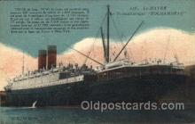 shi004110 - Le Havre Rochambeau French Line, Lines, Ship Ships Postcard Postcards