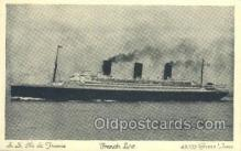 shi004123 - SS Ile De France Steamer, Steam Boat, Ship Ships, Postcard Postcards