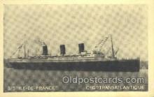 shi004125 - SS Ile De France Steamer, Steam Boat, Ship Ships, Postcard Postcards