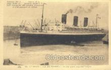 shi004127 - SS Ile De France Steamer, Steam Boat, Ship Ships, Postcard Postcards