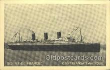 shi004135 - SS Ile De France Steamer, Steam Boat, Ship Ships, Postcard Postcards