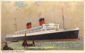 shi005042 - Mauretania - Cunard Ship Ships Postcard Postcards