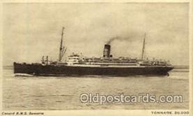 shi005068 - R.M.S. Samaria Cunard White Star Line Ship, Ships, Postcard Postcards