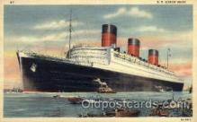 shi005077 - S.S. Queen Mary Cunard White Star Line Ship, Ships, Postcard Postcards