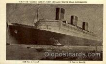 shi005080 - R.M.S. Queen Mary Cunard White Star Line Ship, Ships, Postcard Postcards