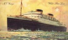 shi005088 - Georgic Cunard White Star Line Ship, Ships, Postcard Postcards