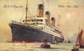 shi005090 - R.M.S. Majestic Cunard White Star Line Ship, Ships, Postcard Postcards