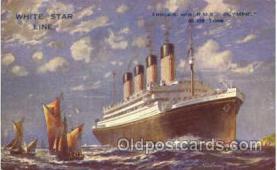 shi005092 - R.M.S. Olympic Cunard White Star Line Ship, Ships, Postcard Postcards