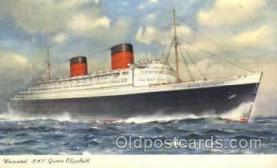 shi005097 - R.M.S. Queen Elizabeth Cunard White Star Line Ship, Ships, Postcard Postcards