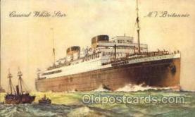 shi005098 - Britannic Cunard White Star Line Ship, Ships, Postcard Postcards