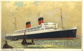 shi005099 - R.M.S. Mauretania Cunard White Star Line Ship, Ships, Postcard Postcards