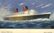 shi005105 - Queen Elizabeth Cunard White Star Line Ship, Ships, Postcard Postcards