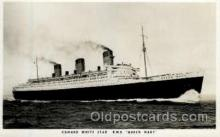 shi005115 - R.M.S. Queen Mary Cunard White Star Line Ship, Ships, Postcard Postcards