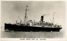 shi005116 - S.S. Scythia Cunard White Star Line Ship, Ships, Postcard Postcards