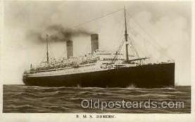shi005130 - R.M.S. Homeric Cunard White Star Line Ship, Ships, Postcard Postcards