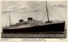 shi005135 - Britannic Cunard White Star Line Ship, Ships, Postcard Postcards