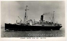 shi005172 - S.S. Scythia Cunard Line, Ship Ships Postcard Postcards