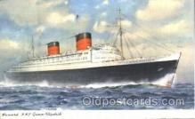 shi005176 - R.M.S. Queen Elizabeth Cunard Ship Ships Postcard Postcards