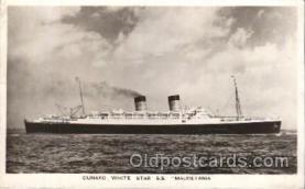 shi005188 - S.S. Mauretania Cunard Ship Ships Postcard Postcards