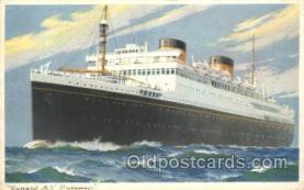 shi005190 - M.V. Britannic Cunard Ship Ships Postcard Postcards