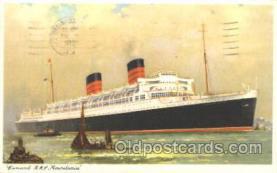 shi005203 - R.M.S. Mauretania Cunard Ship Ships Postcard Postcards
