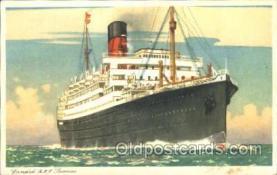 shi005215 - R.M.S. Lamaria Cunard Ship Ships Postcard Postcards