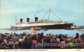 shi005218 - The Queen Mary Cunard Ship Ships Postcard Postcards