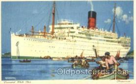shi005255 - Franconia Cunard Ship Ships Postcard Postcards