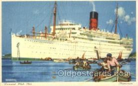 shi005261 - Franconia Cunard Ship Ships Postcard Postcards