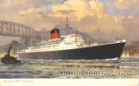 shi005266 - R.M.S. Laxonia Cunard Ship Ships Postcard Postcards