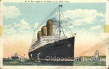 shi005267 - S.S. Berengaria, Cunard Line, New York,USA Cunard Ship Ships Postcard Postcards