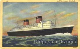 shi005281 - R.M.S. Queen Elizabeth Cunard Ship Ships Postcard Postcards