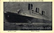 shi005285 - The Queen Mary Cunard Ship Ships Postcard Postcards