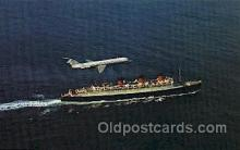 shi005293 - Douglas DC-9 and H.M.S. Queen Mary Cunard Ship Ships Postcard Postcards