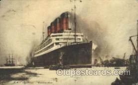 shi005294 - R.M.S. Aquitania Cunard Ship Ships Postcard Postcards