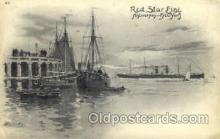 shi006015 - Antwerpen-New York, USA Red Star Line Postcard Postcards